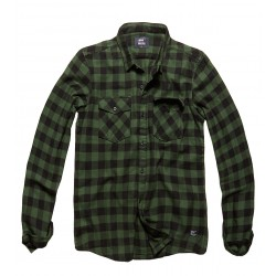 Army Vintage Shirt Green Check