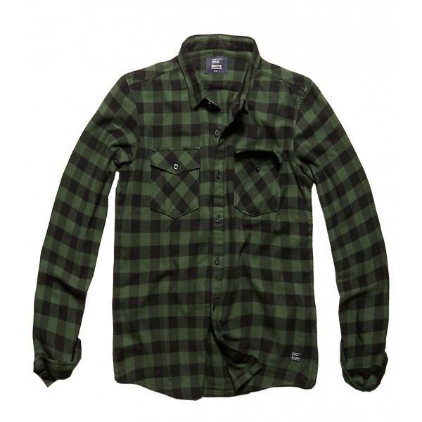 Vintage Shirt Green Check