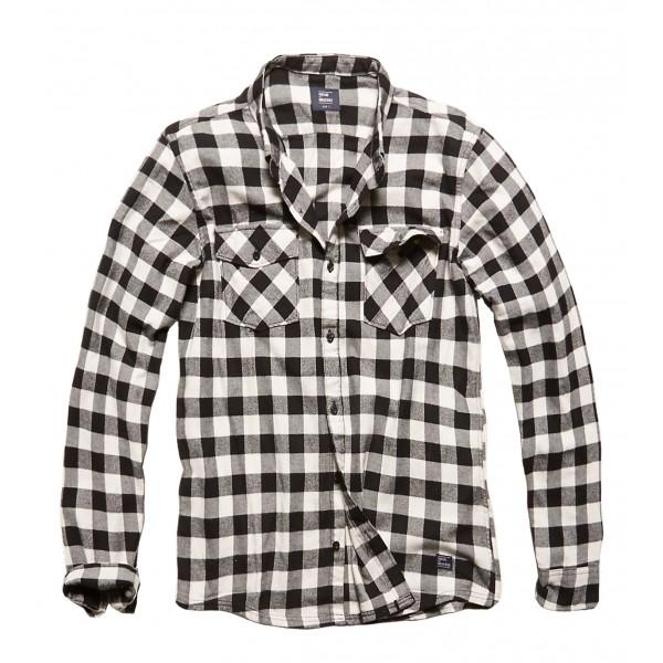 Vintage Shirt White/Black