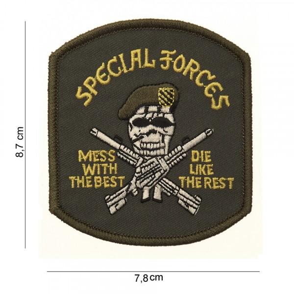 Embleem stof special-forces (doodskop)