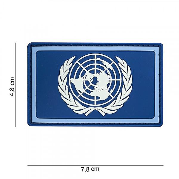 Verenigde Naties  PVC Embleem met Klitteband