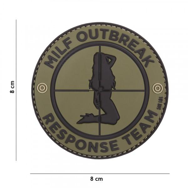 Milf Outbreak PVC Embleem met Klitteband