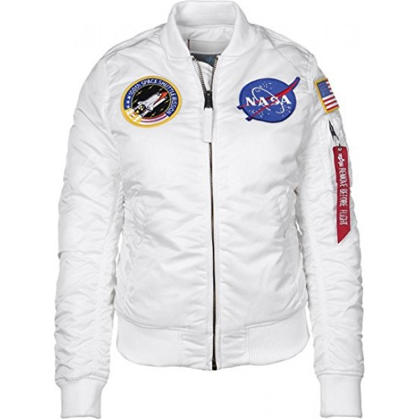 Alpha Industries MA-1 VF NASA WMN White