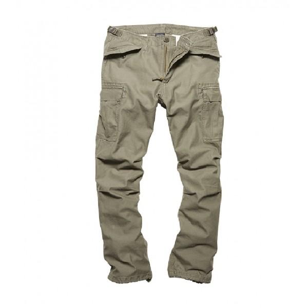 Vintage Industries M65 heavy satin pants Olive