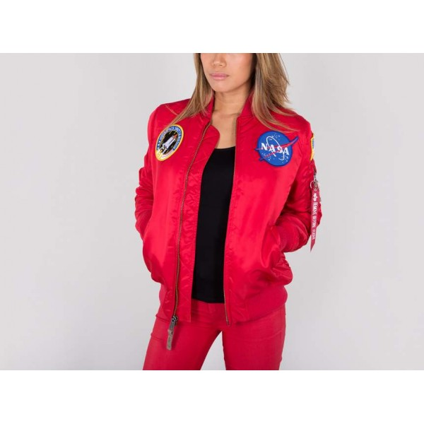 Alpha Industries MA-1 VF NASA WMN Red