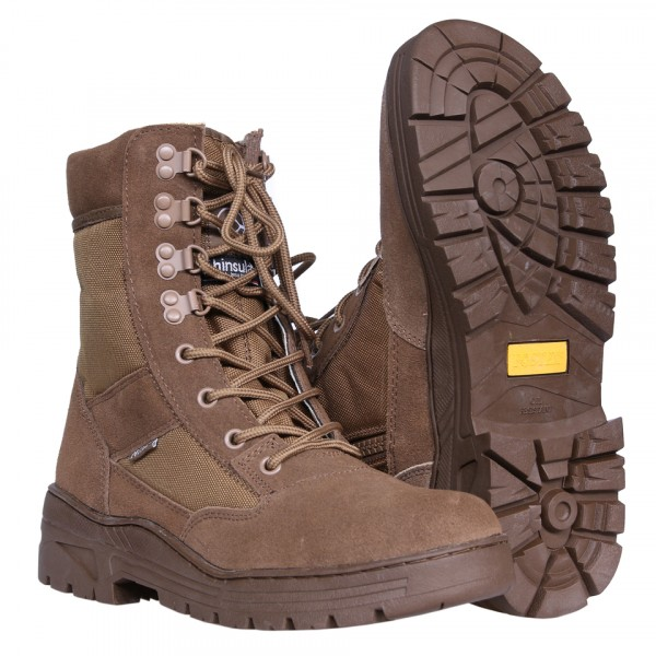 Sniper Boots Coyote met Rits Buffalo Leather