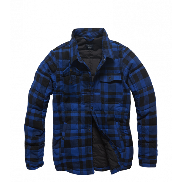 Padded Shirt Blue Check