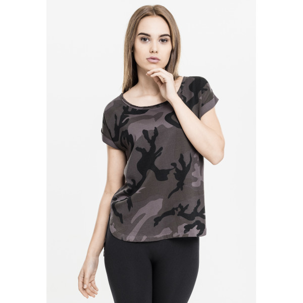 Ladies Dark Camo Tee