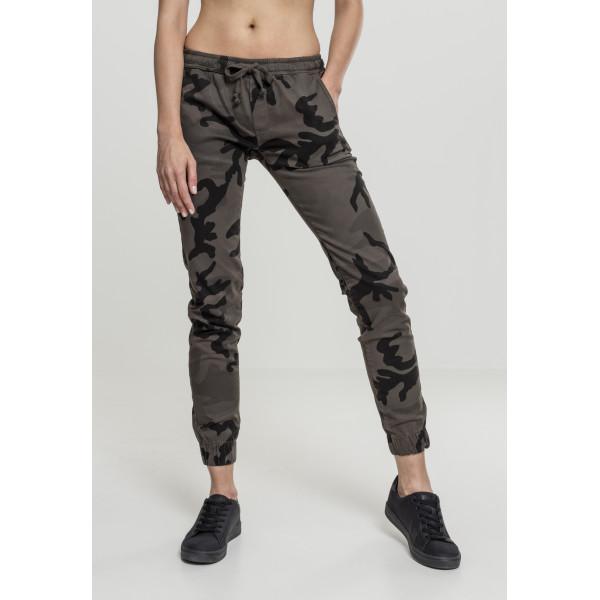 Ladies Camo Jogging Pants Dark Camo