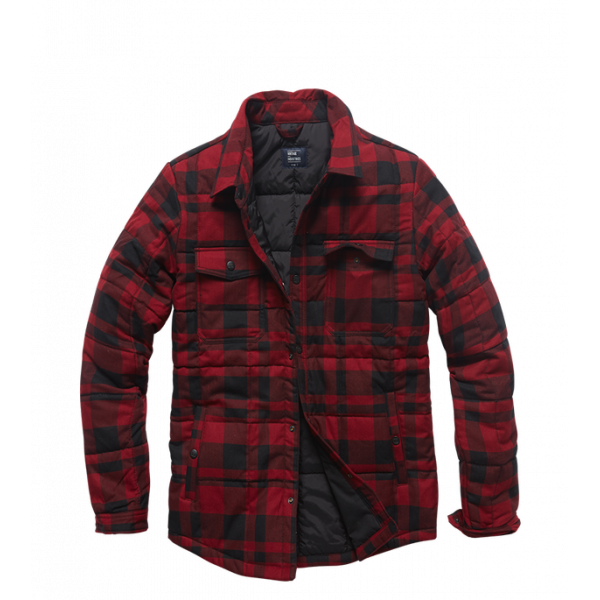 Padded Shirt Red Check