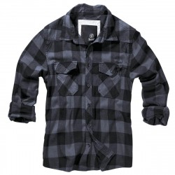 Brandit Check Shirt Zwart/Grijs