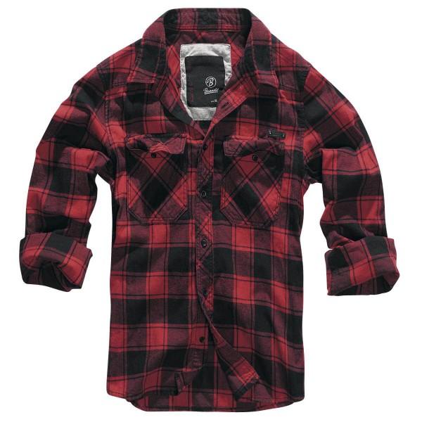Brandit Check Shirt Rood/Zwart