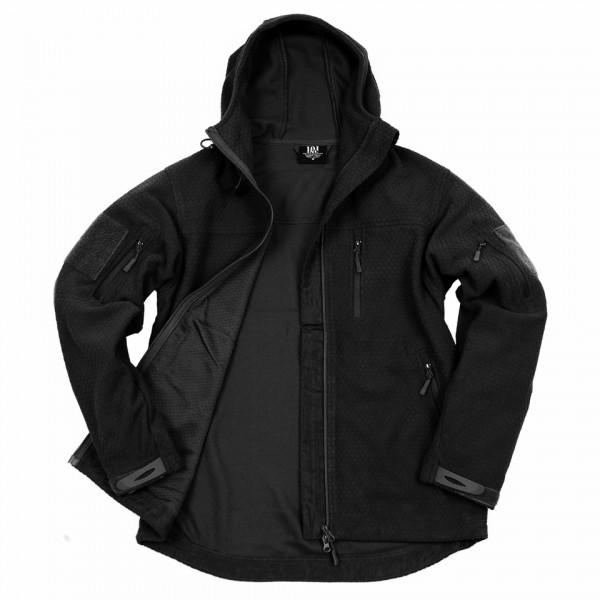 Hexagon fleece vest Black